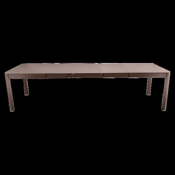 table de jardin marron, table metal allonge, table metal a rallonge, table metal rectangulaire, table fermob allonge