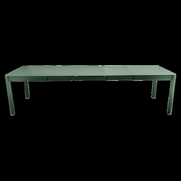 table de jardin vert, table metal allonge, table metal a rallonge, table metal rectangulaire, table fermob allonge