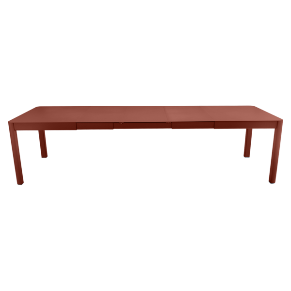 Table 3 allonges 149/299 x 100 cm ribambelle ocre rouge