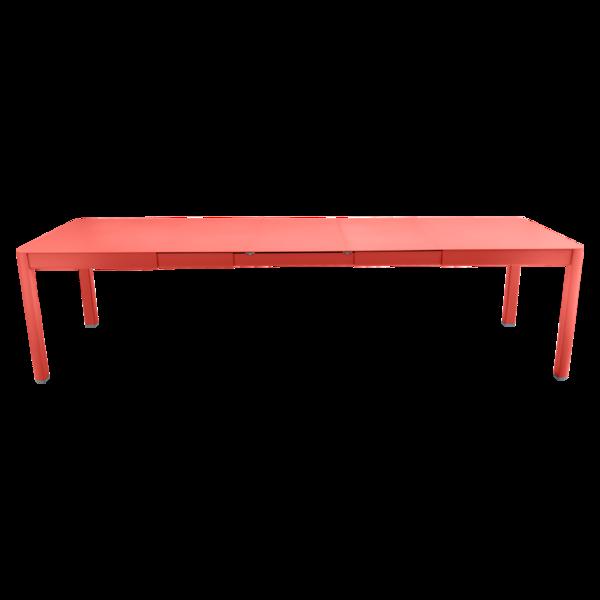 table de jardin rose, table metal allonge, table metal a rallonge, table metal rectangulaire, table fermob allonge