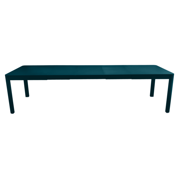Table 3 allonges 149/299 x 100 cm ribambelle bleu acapulco