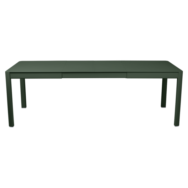 table de jardin vert, table metal allonge, table metal a rallonge, table metal rectangulaire, table fermob allonge
