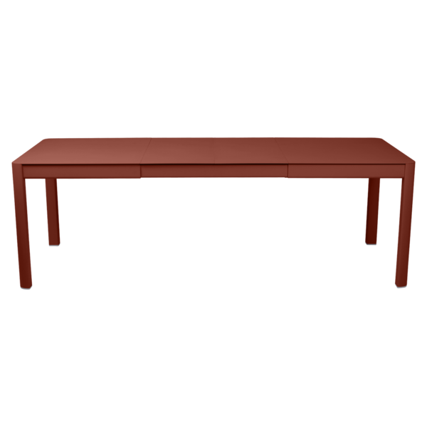 Table 2 allonges 149/234 x 100 cm ribambelle ocre rouge
