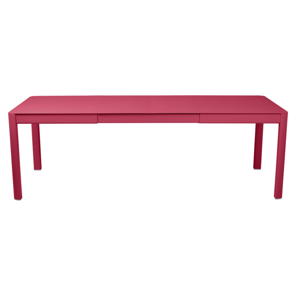 table de jardin rose, table metal allonge, table metal a rallonge, table metal rectangulaire, table fermob allonge