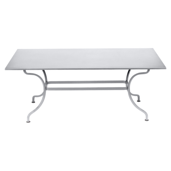 table de jardin, table metal, table rectangulaire, table 8 personnes, table blanche