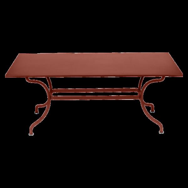 Table 180 x 100 cm romane ocre rouge