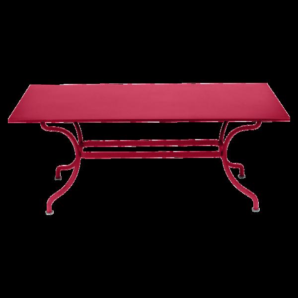 table de jardin, table metal, table rectangulaire, table 8 personnes, table rose