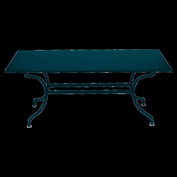 Table 180 x 100 cm romane bleu acapulco