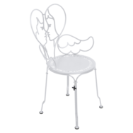 chaise design, chaise castelbajac, chaise metal design, chaise design blanche