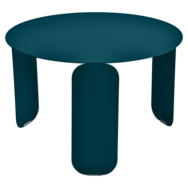 Table basse Ø 60 cm bebop bleu acapulco