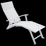 chaise longue, chaise longue metal, chaise longue pliante, chaise longue blanche