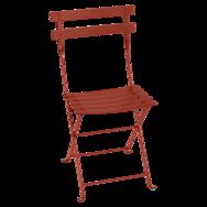 Chaise métal bistro ocre rouge