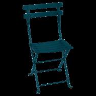 Chaise métal bistro bleu acapulco