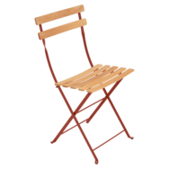 Chaise Naturel bistro ocre rouge