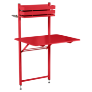 petite table metal, table balcon, table bistro balcon, petite table pliante, table rouge