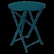 Table Ø 60 cm bistro bleu acapulco