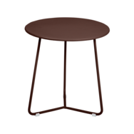 tabouret bas metal, table de chevet, table d appoint, petite table basse marron
