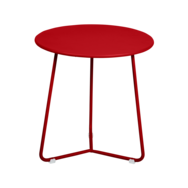 tabouret bas metal, table de chevet, table d appoint, petite table basse rouge