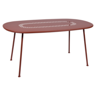 Table ovale lorette ocre rouge