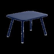 table de jardin pour enfant, table metal pour enfant, table enfant metal, table enfant bleu