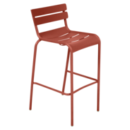 Tabouret haut luxembourg ocre rouge