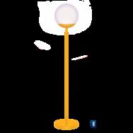 lampe fermob, lampadaire, lampe outdoor, lampe d exterieur, lampe jaune