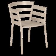 chaise metal design, chaise design, fauteuil de jardin, chaise metal, chaise fermob, fauteuil beige