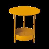 gueridon metal jaune
