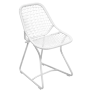 chaise de jardin design, chaise fermob, chaise blanche, chaise sixties