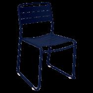 chaise metal, chaise de jardin, chaise metal design, chaise bleu