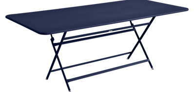 table de jardin pliante, table metal, table metal 8 personnes, table de jardin bleu, table metal bleu