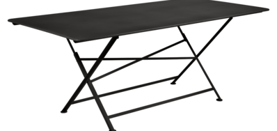 table de jardin, table metal, table de jardin pliante, table metal pliante, table fermob noir