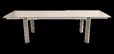 table de jardin beige - table metal