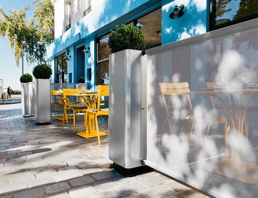 aménagement terrasse de restaurant