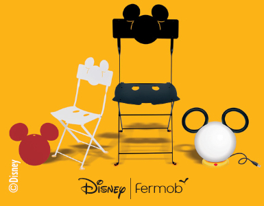 Collection mickey x fermob, chaises mickey