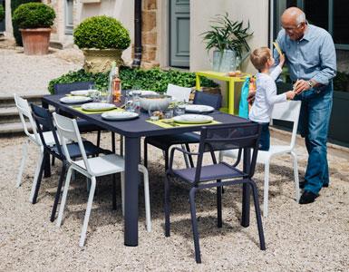 table, mobilier extérieur, mobilier de jardin, oléron fermob, chaise jardin