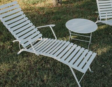 chaise longue metal, chaise longue de jardin