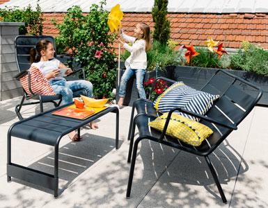 salon de jardin, table basse, table jardin, chaise jardin, mobilier exterieur