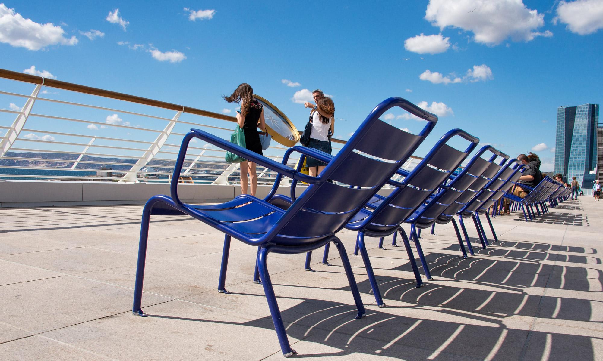 fermob on the terrasses du port in marseille. Black Bedroom Furniture Sets. Home Design Ideas