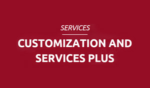 Services plus and customization