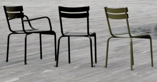 chaise restaurant acier luxembourg - Chaise Acier