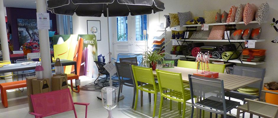 showrooms et magasins fermob. Black Bedroom Furniture Sets. Home Design Ideas