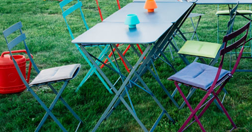table de jardin métal Bistro