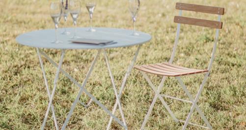 Table Bistro ronde 77 cm, table de jardin, table ronde jardin 27e3c62bb0b8