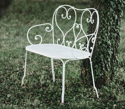 mobilier de jardin volutes, chaise metal, table de jardin, table ronde metal
