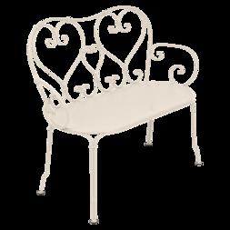 1900 Banquette en métal beige