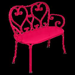 1900 banquette en métal rose