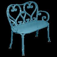 1900 Banquette en métal bleu