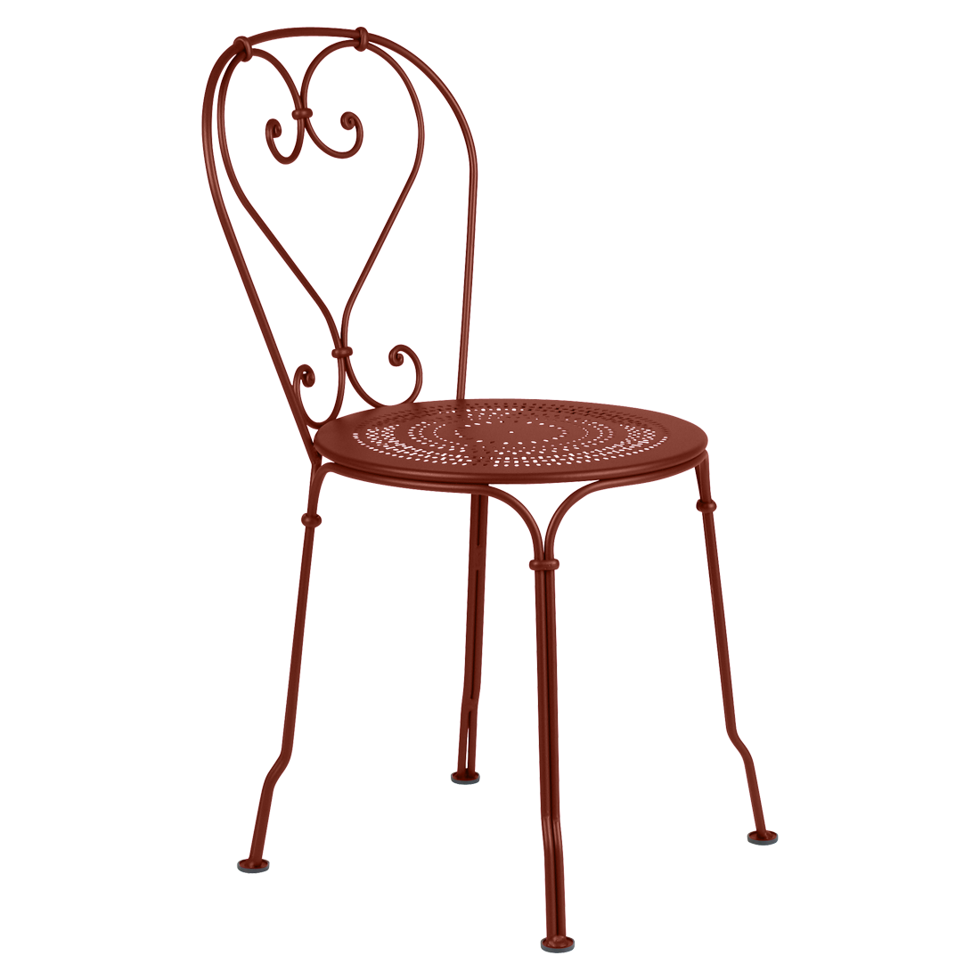 chaise 1900 ocre rouge