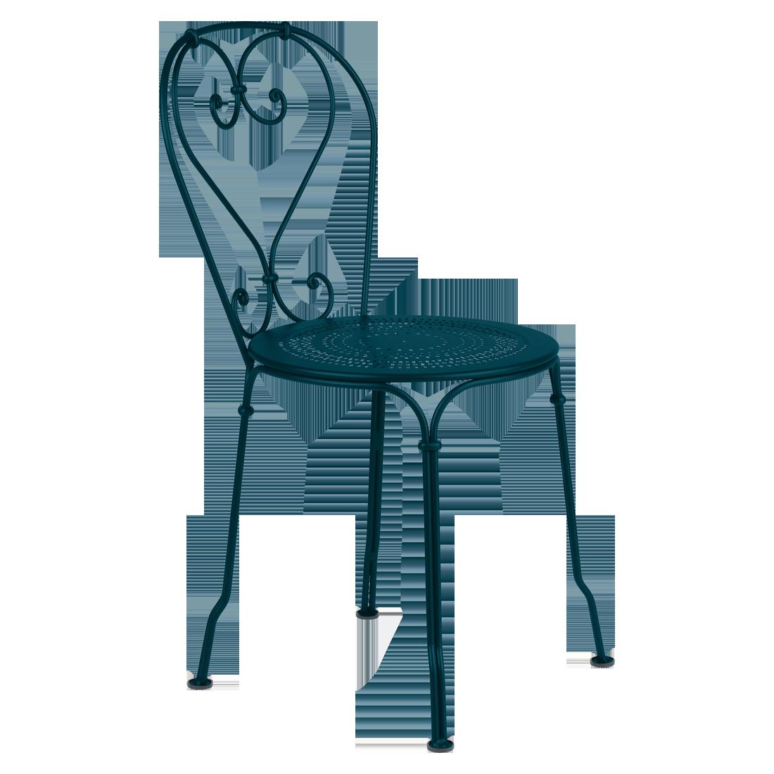 Chaise 1900 bleu acapulco